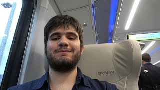 FIRST EVER RIDE ON BRIGHTLINE TRAIN! Full Video!
