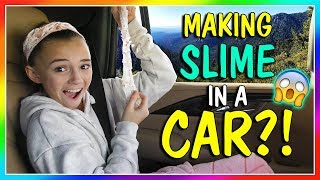 MAKING SLIME IN OUR CAR! | We Are The Davises