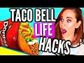 TACO BELL Secret Menu Items! Fast Food Cheat Day