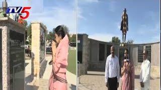 Ex Chancellor Dr Avula Manjulatha Visits Mahatma gandhi Memorial Park   Dallas   USA   TV5 News