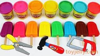 Learn Colors Play Doh Popsicle Ice Cream Peppa Pig Paw Patrol Molds Baby Kinder Joy Surprise Toys