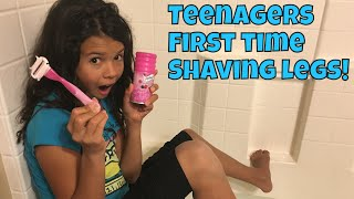 💃🏽❌‼️TEENAGER'S FIRST TIME SHAVING LEGS / HOW TO SHAVE LEGS💃🏽❌‼️