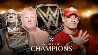 John Cena vs Brock Lesnar l Night of Champions 2014 l Combates WWE