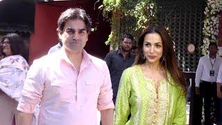Malaika arora khan And arbaz khan Visit Arpita Khan Sharma house For Ganpate celebration