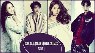 Lists of Korean Joseon Dramas | Part I