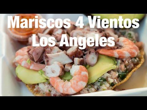 Mexican Seafood Tostadas at Mariscos 4 Vientos Los Angeles