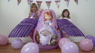 Disney Junior Videos SOFIA THE FIRST Super Giant Surprise Egg WORLD'S BIGGEST Play Doh KINDER EGG
