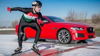 Jaguar XE 300 SPORT   3km Ice Track Challenge