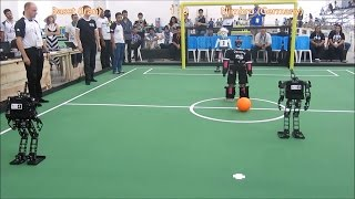 RoboCup 2014 Teen Size FINAL: IRAN / GERMANY