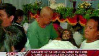 SONA: Pagpapaligo sa imahe ng Santo Entierro, isa sa mga tradisyon ng ilang deboto tuwing Kwaresma