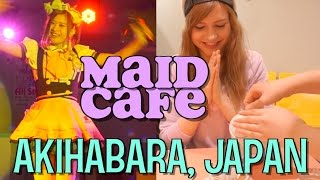 My First MAID CAFE Experience! Akihabara, Japan カナダ人の初めてのメイドカフェ