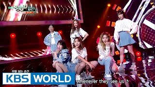 unnies  right     music bank hot debut  20170512