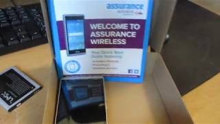 Unboxing the Assurance Wireless ANS phone