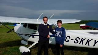 Harry's First Solo, (full version) 16th Birthday, Sept 2016, Cessna 172
