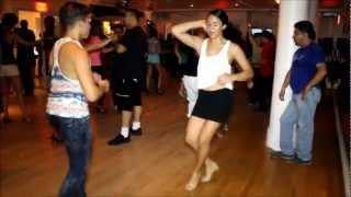 Alejandra Perez with Elvis Collado, Jose Diaz & Ismael Otero at Club Cache & Salsamania Saturdays