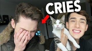 LOST CAT PRANK ON BOYFRIEND (HE CRIES)