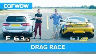 Mercedes-AMG E63 S vs GT R - DRAG RACE, ROLLING RACE & BRAKE TEST   Mat vs Shmee pt 2/4