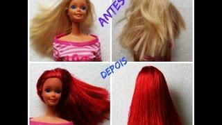 Como mudar a cor do cabelo da sua Barbie  ...