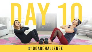 Day 10: 100 Sit Ups! | 100 Ab Challenge w/ Rosanna Pansino