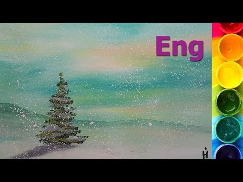 How to paint A FIR TREE with gouache