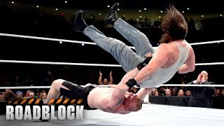 WWE Network: Brock Lesnar vs. Bray Wyatt & Luke Harper - 2-on-1 Handicap Match: WWE Roadblock 2016