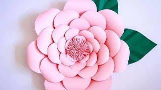 Montagem flor de papel- modelo 1