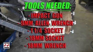 John Deere Gator 825i 620i 855D: How to remove Rear Axle from JD XUV