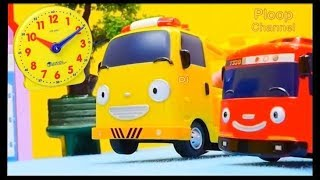Lightning McQueen 🕒 CLOCK SCHOOL RACE! - Learn the Time with Tayo the Little Bus