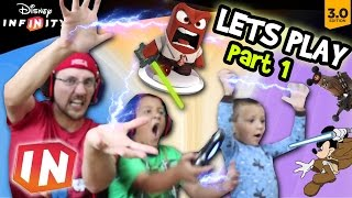 Lets Play Disney Infinity 3.0 - Pt. 1: USE THE FORCE & NAE NAE (Star Wars & Inside Out FGTEEV Intro)