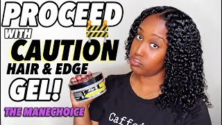 WHAT IN THE WORLD???? | PROCEED WITH CAUTION HAIR AND EDGE GEL! | THE MANECHOICE!