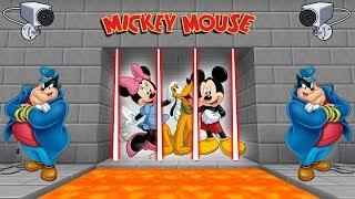 MICKEY, MINNIE Y PLUTO PRESOS (MINECRAFT PRISON ESCAPE)