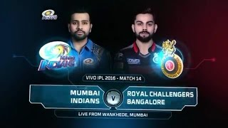 IPL 2017   RCB vs  MI LIVE   14  /4 /2017
