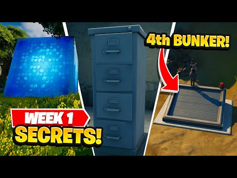Fortnite All Season 8 Map Updates and Story Secrets WEEK 1 CUBES