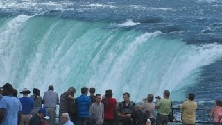 Niagara Falls Ontario Canada - View From Promenade & Maid of the Mist ( Hornblower )
