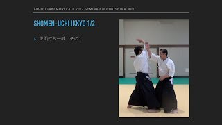 Aikido Takemori late 2017 @Hiroshima #07:Shomen-uchi ikkyo 1/2 正面打ち一教:その1