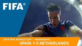 SPAIN v NETHERLANDS (1:5)  -  2014 FIFA World Cup™