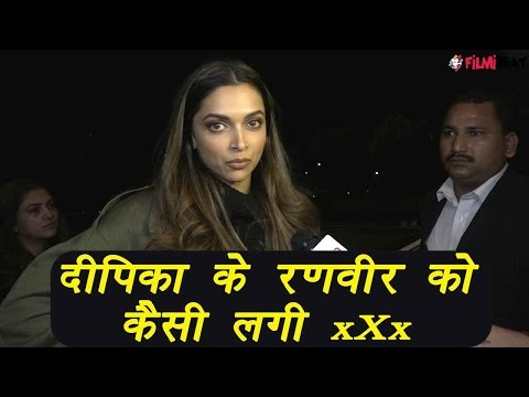 Deepika Padukone talks about Ranveer Singh's reaction on xXx; Watch video | FilmiBeat