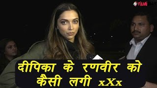 Deepika Padukone talks about Ranveer Singh's reaction on xXx; Watch video | FilmiBeat