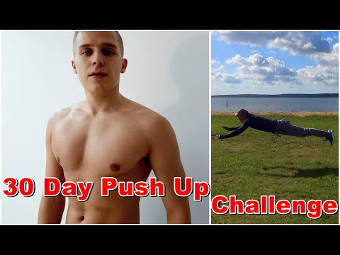 30 Day Push UP CHALLENGE Transformation of the Superman!