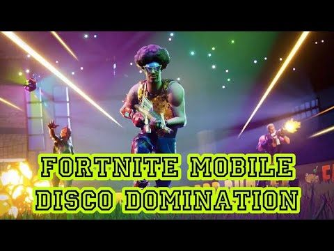 DIAJARIN ANAK SMP MAIN FORTNITE MOBILE I Disco Domination