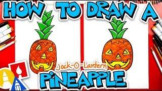 How To Draw A Jack-O-Lantern Pineapple