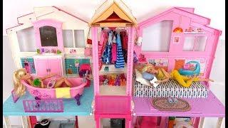 Barbie House Morning Routine Bedroom Bathroom باربي البيت الصباح الروتين Barbie Casa Rotina matinal