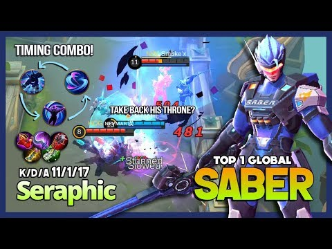 Download Lagu Saber with 5897 Match, Annoying Mid Lane! Seraphic Top 1 Global Saber ~ Mobile Legends MP3