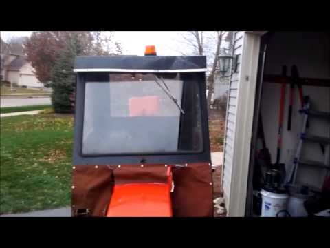 Case 220 with Heated Cab and Snowblower