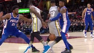 LeBron James Pulls a SWEET Behind-the-Back Move Between Tristan Thompson's Legs!