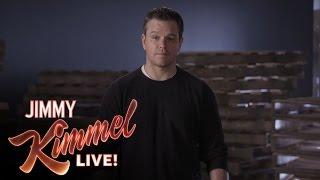 Matt Damon's Attack Ad Against Jimmy Kimmel