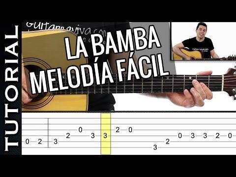 como tocar LA BAMBA melodía FACIL en guitarra sólo 2 dedos principiantes y novatos