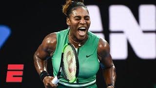 Serena Williams takes down No. 1 Simona Halep   2019 Australian Open Highlights