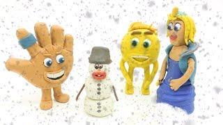 The Emoji Snow Playtime Play Doh Superhero Babies Stop Motion Videos