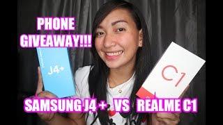 Samsung J4 plus Vs. Realme C1 + PHONE GIVEAWAY!!!